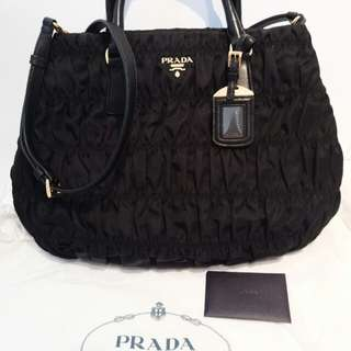 Authentic Prada Nero Tessuto Gaufre bag