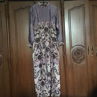 JUAL RUGI Baju dress abaya semi batik elegan