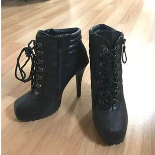 Betts Stiletto Military Boots