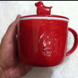 Starbucks year of the dog cup with lid