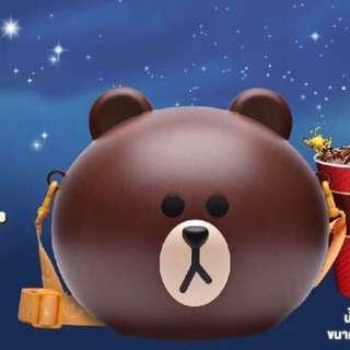 Line Friends 熊大Brown Popcorn case (泰國版Thai edition)