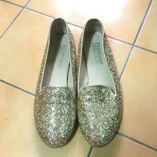 金色亮片娃娃鞋