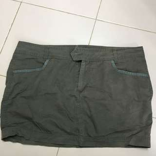 Army Green Mini Skirt