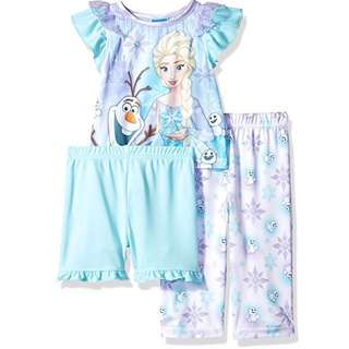 SALE 60% Off - 18 Mths BNWT Authentic Disney Store baby girls Frozen 3pc pyjamas / sleepwear set