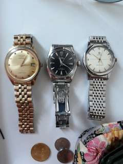 Authentic Tudor + Longines + Omega Seamaster