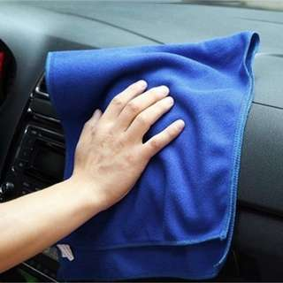 5pcs Car Cleaning Cloth Microfiber Absorbent Towels (25cm x35cm)