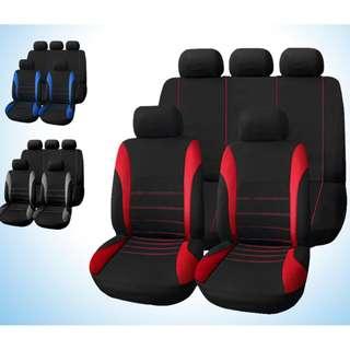 UNIVERSAL 9 SET  FULL CAR SEAT COVER MESH SPONGE INTERIOR SET