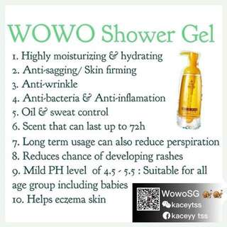Authentic Wowo Shower Gel 380ml
