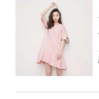 Midi Pink Pleated dress