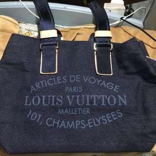 LV 牛仔布休閒袋