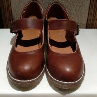 Palfrey Brand Mary Jane Women's Shoes - Brown Size 6