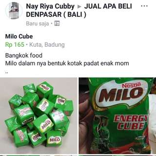 Milo tube Bangkok food