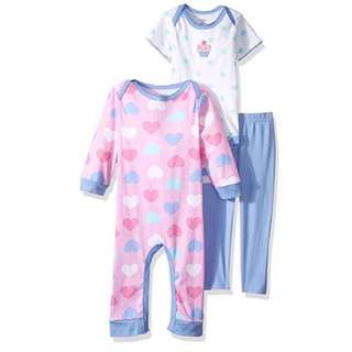 SALE 35% Off - 18/24 Mths BNWT Authentic Gerber baby girls 3pc set (coverall, bodysuit, pants)