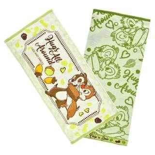 Japan Disneystore Disney Store Chip & Dale Hug & Smile Face Towel Set