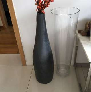 Tall standing vase