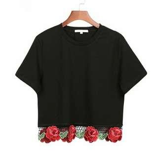 Women Fashion Flower Embroidery