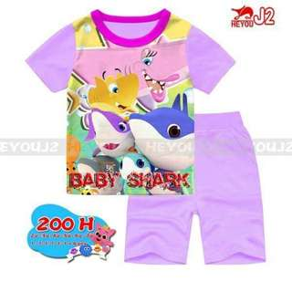 Baby Shark T-shirt and Pants set