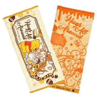 Japan Disneystore Disney Store Winnie the Pooh & Friends Hug & Smile Face Towel Set