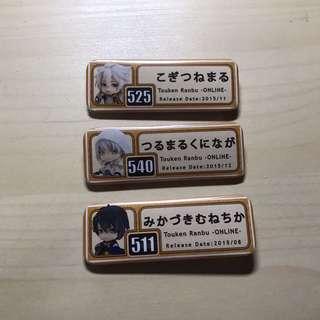 Touken Ranbu Badges