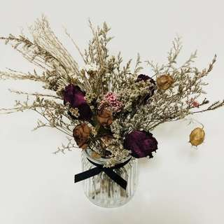 Dried florals in a Vase  (Petite)