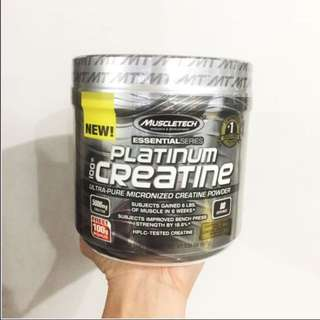 Ready stock Muscletech, Essential Series, Platinum 100% Micronized Creatine, Unflavored, 0.88 lbs (400 g)