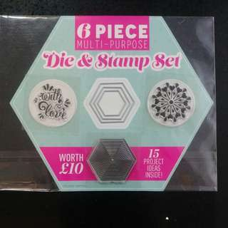 6 piece dies & Stamp Set*