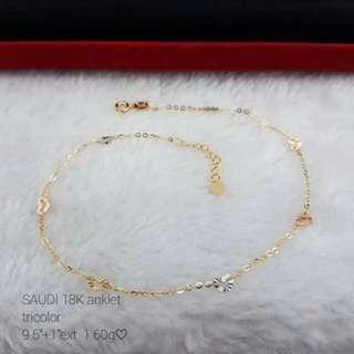 18k saudi gold anklet