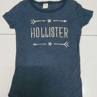 免運 美國購回 正版 Hollister 海鷗 af副牌 短袖上衣 短t 混色 復古風 藍灰色 燙金