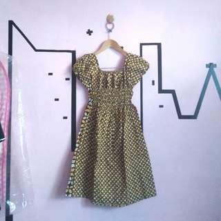 Dress mini batik