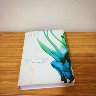 E.L.F eyeshadow palette beauty book