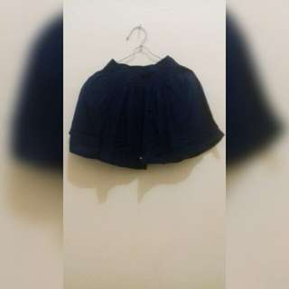 Rok mini warna navy