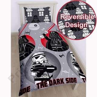 <🇬🇧️直送, 現貨> Lego Star Wars 雙面 logo被袋及1 面logo枕頭袋 單人套裝