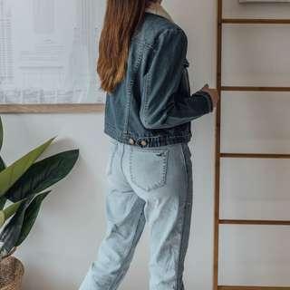 GLASSONS - Fur Denim Jacket ✧ Tara Milk Tea