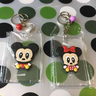 Tsumtsum Mickey and Minnie couple - cardholder with bells