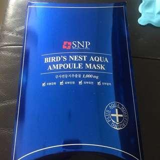 BNIB SNP bird's nest aqua ampoules mask