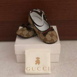 Authentic Gucci Baby Shoes