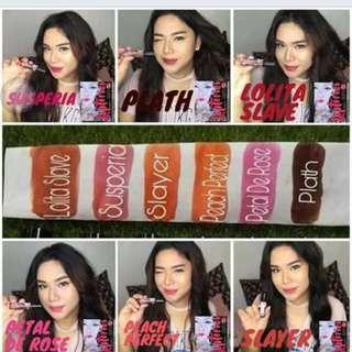 Natural Organic liptint Cosmetics different colors