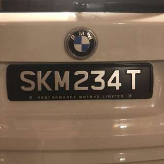 SKM 234 T Car plate number