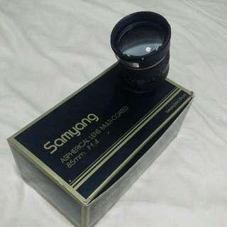Samyang 85mm F1.4 Canon Mount Aspherical Lens Multi Coated