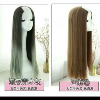 U Shape blonde clip on wig *Brand new in package *pm if int
