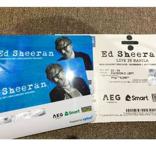 ED SHEERAN IN MANILA - 2 tickets Patron C