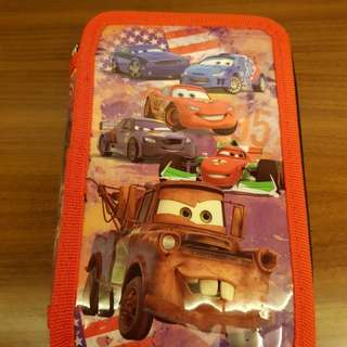 Cars pencil case. Kotak pinsil.