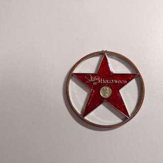 Star of hollywood key chain