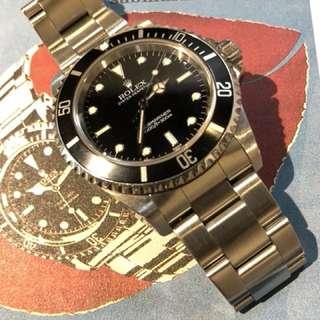 Rolex-14060-盲十-A頭-淨錶一隻!
