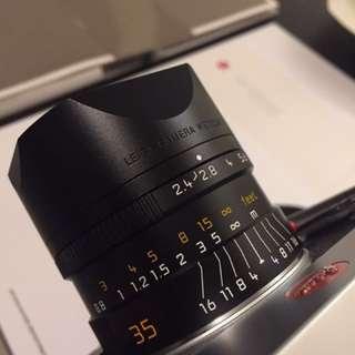 Mint Leica M Summarit 35mm 2.4 ASPH negotiable