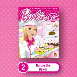 [Brand New] Macdonald Happy Meal Barbie Book - #2 Barbie The Baker