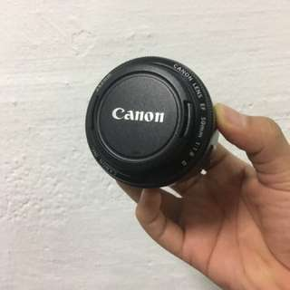 Canon EF 50mm 1.8 with FREE Filter