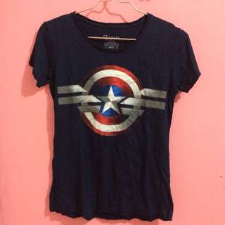 Captain America Navy Shirt