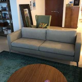 IKEA karlstad beige 3 seater sofa