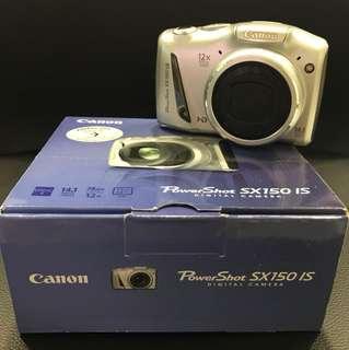 Canon PowerShot SX150 IS Digital CAMERA (Rare Silver)